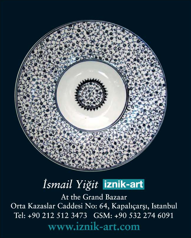 *Iznik Art* <br> Ismail Yigit's shop in the grand bazaar is a gallery of contemporary Iznik ceramics