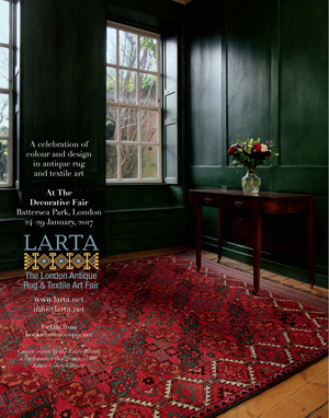 LARTA<br> London Antique Rug and Textile Art Fair<br> January 24–29, 2017
