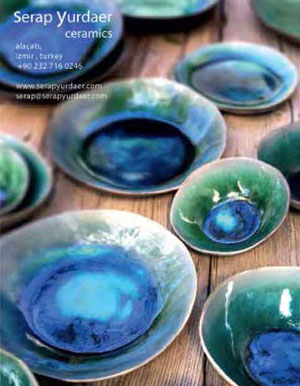 *Serap Yurdaer* <br> In the charming Aegean town of Alaçatı, Serap Yurdaer fires her own beautiful, modern ceramics