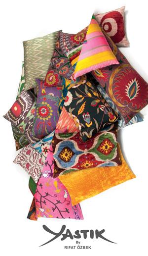 *Yastik* <br> Stunning ikat-style designer cushions by Rifat Özbek
