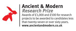 Ancient & Modern research Award