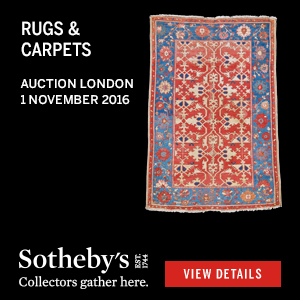 *Sotheby's Rugs & Carpets, London*<br> November 1st, 2016