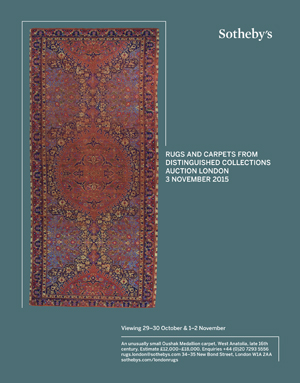 *Sotheby's Rugs & Carpets, London*<br> November 3rd, 2015