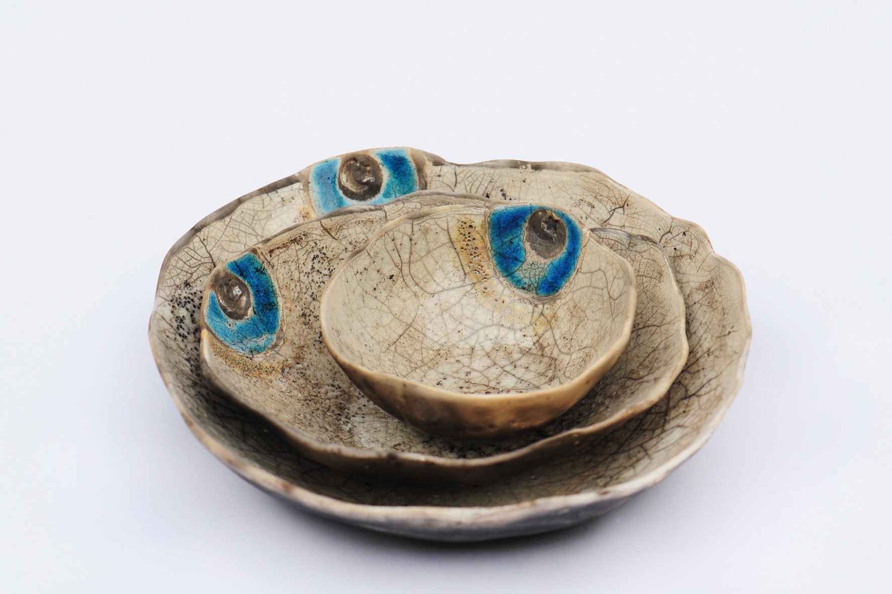 Decorative White Ceramic Bowls Set Of Three Sold By Serap Yurdaer Ceramics