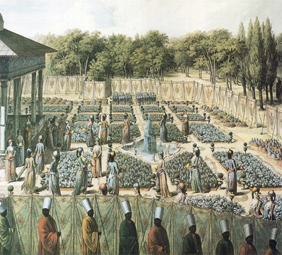 Graceful Harem Las In An Ottoman Garden By Nicholas De L Espine 1734 1808 From The Falkenberg Collection