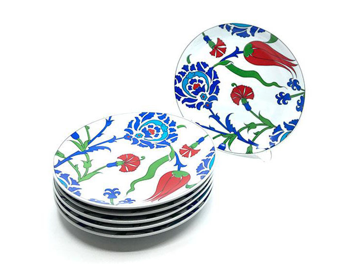 Marketplace U003e Iznik Porcelain Dining Plate Set