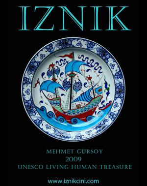 *Iznik Çini*<br> Iznik ceramics by master çiniçi, Mehmet Gürsoy