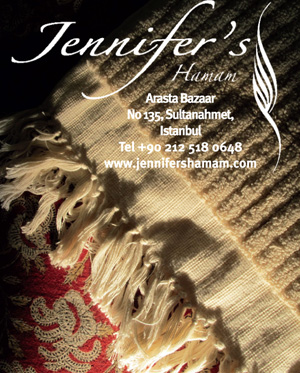 *Jennifer's Hamam*<br> Pestamels, towels, robes, silk products and kese