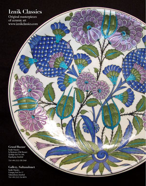 *Iznik Classics*<br> Original masterpieces of ceramic art in Sultanahmet