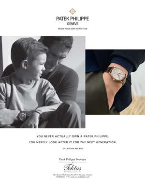 *Patek Philippe*<br> Begin your own tradition