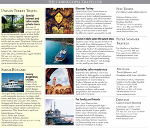 <b>CORNUCOPIA TRAVEL DIRECTORY</b><br><br> Print layout