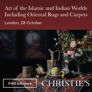 *Christie's Art of the Islamic & Indian Worlds including Oriental Rugs and Carpets, London* <br> <br>28 October 2021<br>