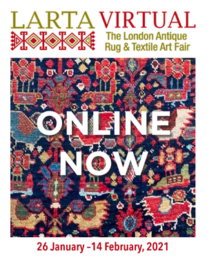 The London Antique Rug & Textile Art Fair 2021. Live online